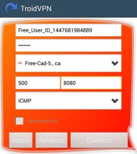 برنامج TroidVPN - Android VPN للحصول على انترنت مجانى