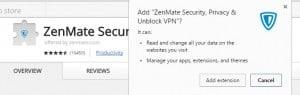 فتح المواقع المحجوبة ZenMate جوجل كروم