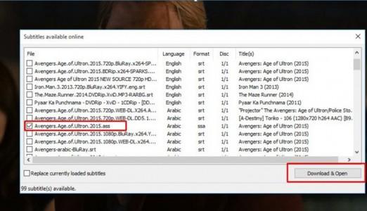 كيفية ترجمة أي فيلم على الكمبيوتر ببرنامج Media Player Classic 1