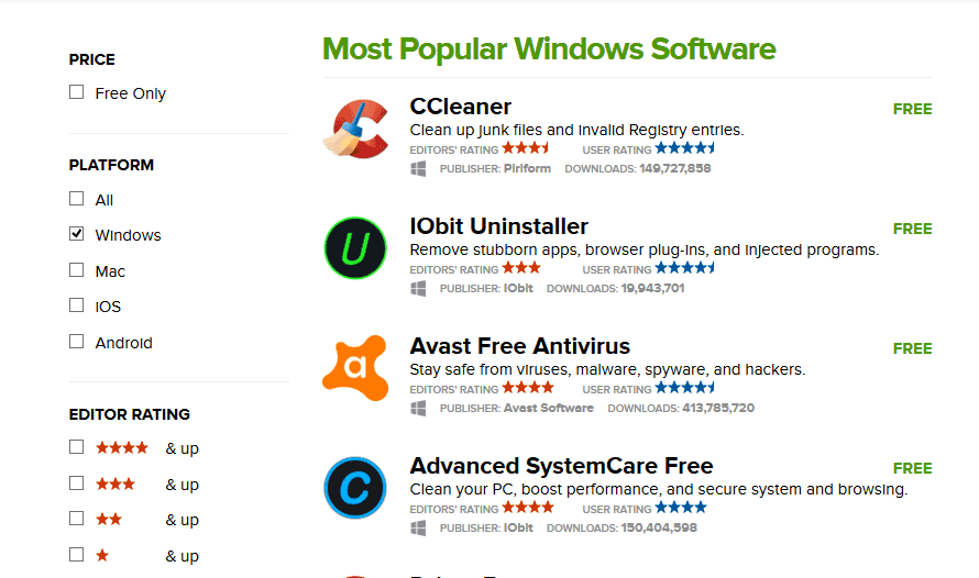 مواقع تحميل البرامج Cnet