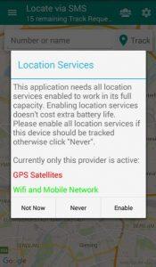 تحميل تطبيق Locate via SMS لمعرفة مكان أي شخص بدون إنترنت 1