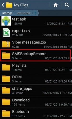 برنامج SMS Backup & Restore 5