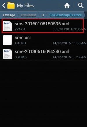 برنامج SMS Backup & Restore 6
