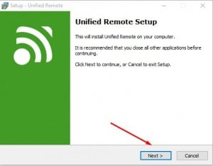 برنامج Unified Remote 2