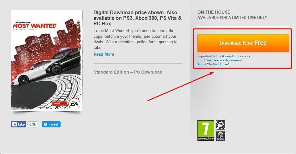 تحميل لعبة Need for Speed Most Wanted مجاناً من الموقع الرسمي 1