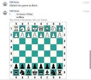 لعبة الشطرنج في محادثات الفيسبوك 2