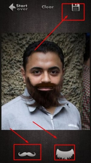تطبيق Make me Bearded 5