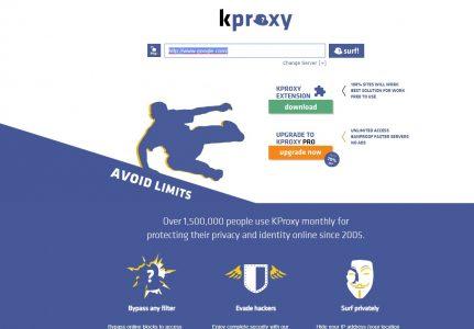 شرح موقع kproxy