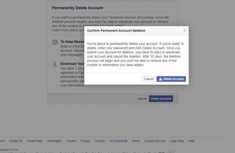 كيفية مسح اكونت الفيس بوك