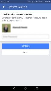 مسح حساب الفيس بوك على هواتف الاندرويد