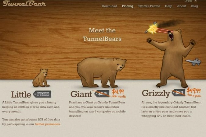 برنامج Tunnel Bear لفتح المواقع المحجوبة