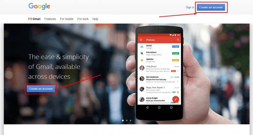 إنشاء حساب جيميل Gmail جديد من الكمبيوتر 1