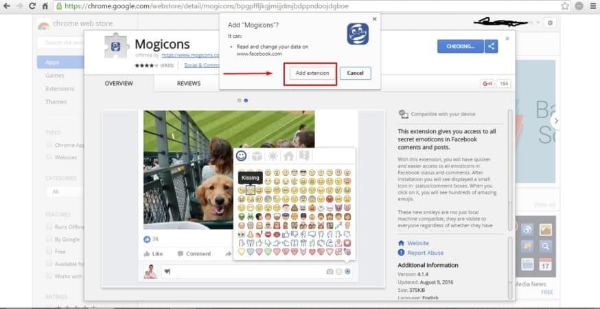 رموز الفيس بوك Facebook Emoticons لمتصفح جوجل كروم