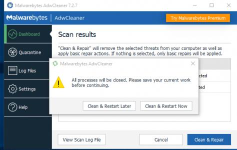 التخلص من maleware ملفات
