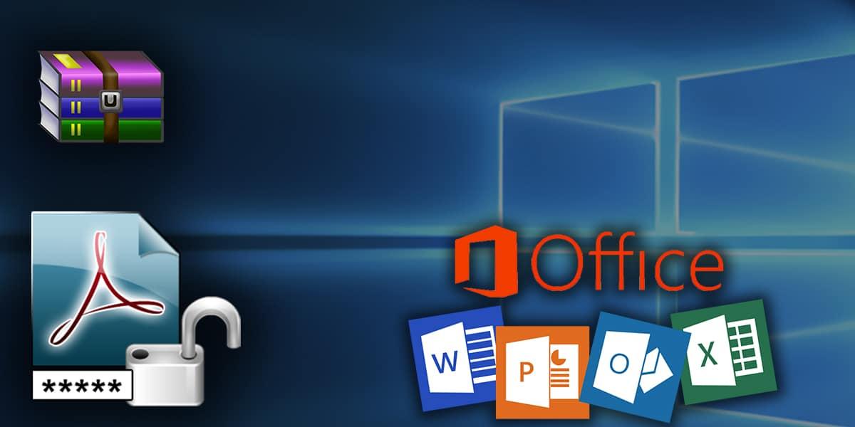 فتح ملف Word و RAR و PDF و Excel محمي بكلمة سر اون لاين