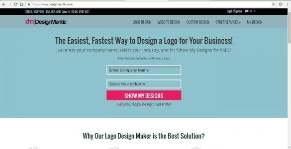 تصميم شعار علي موقع Designmantic