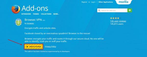 فتح المواقع المحجوبة على Firefox