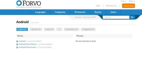 موقع Forvo سيساعدك على نطق أي لغة بطريقة بسيطة جداً 1