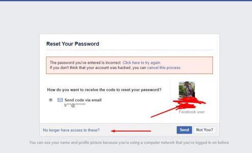 حيلة استرجاع حساب الفيس بوك