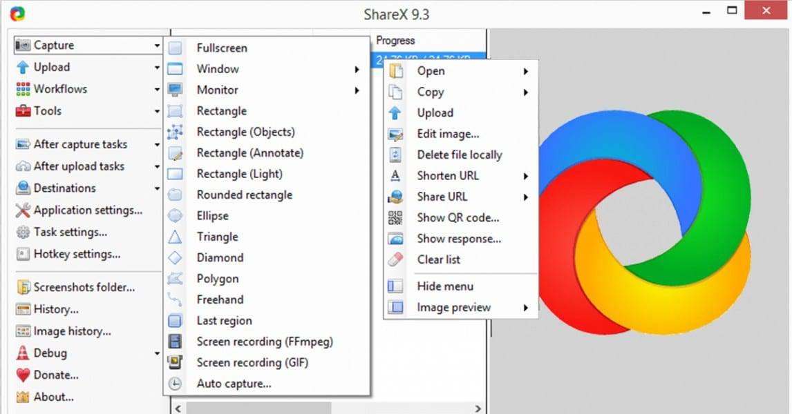 تحميل برنامج تصور الشاشة ShareX 2018