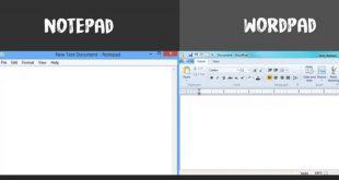 شرح الفرق بين Notepad و WordPad وما هي وظيفة كل منهما 1