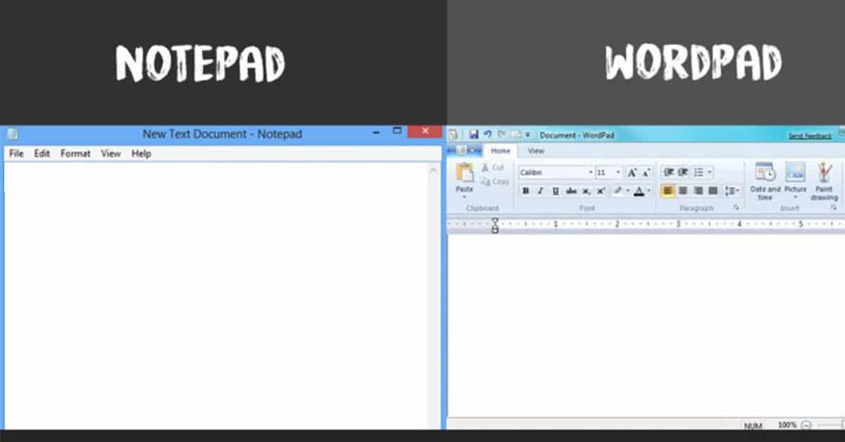 تعرف علي الفرق بين Notepad و WordPad وما هو الدور التي تقوم به كل أداة منهما 1