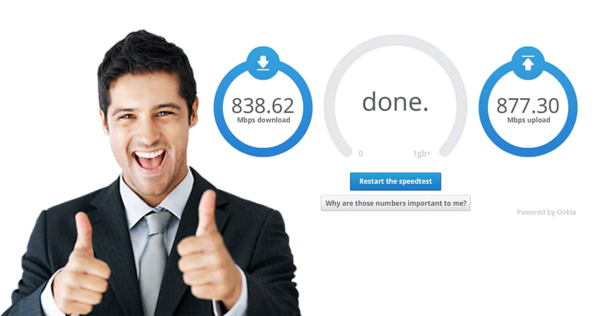 خدمة Google Fiber لقياس سرعة الإنترنت