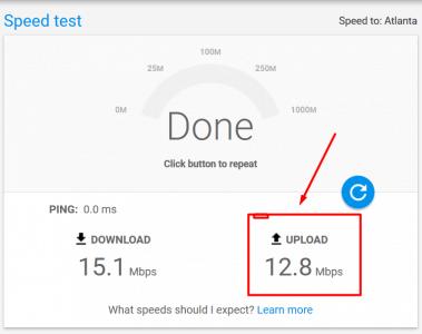 خدمة Google Fiber لقياس سرعة الانترنت