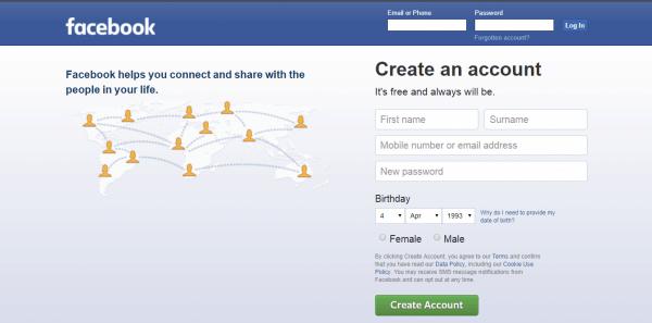 فتح حساب فيس بوك جديد للمبتدئين