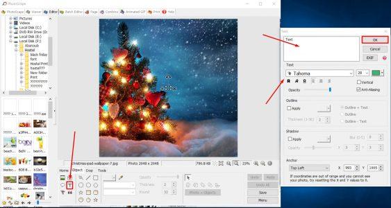 تحميل برنامج الكتابة على الصور للكمبيوتر PhotoScape