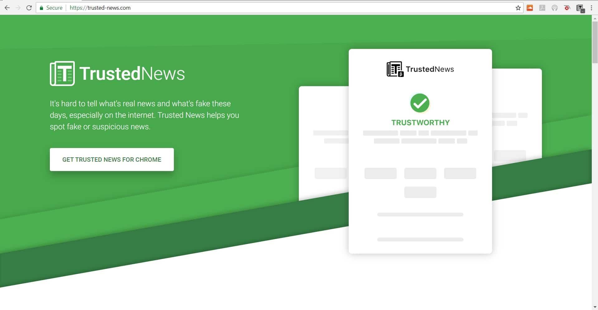 إضافة Trusted News