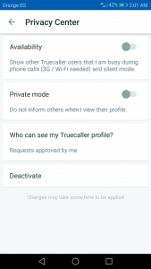 طريقة وقف تجسس Truecaller