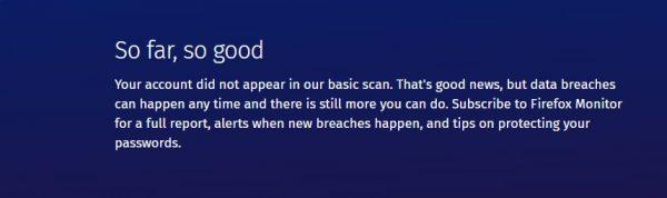 افحص حسابك مع Firefox Monitor
