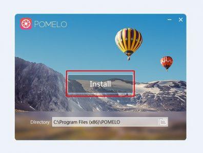 تثبيت برنامج Pomelo
