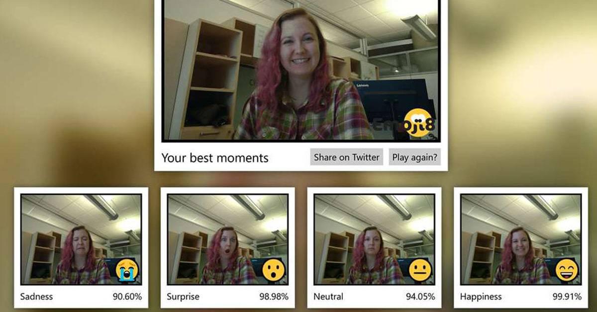 تحميل برنامج Emoji8 من مايكروسوفت لتحويل تعابير وجهك الى ايموجي