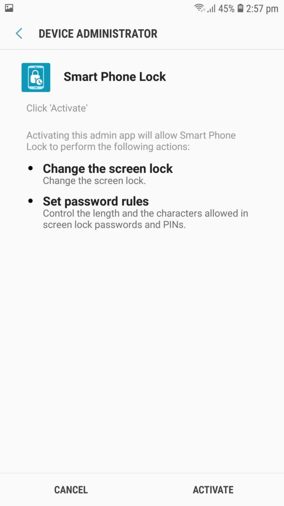تطبيق Smart Phone Lock تحميلات