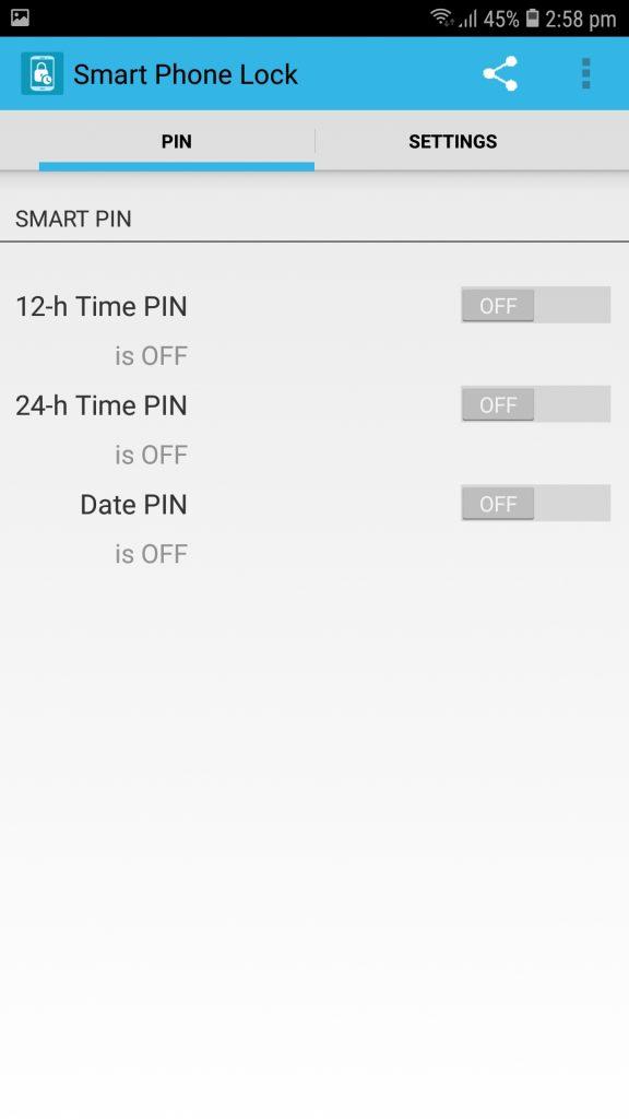 تطبيق Smart Phone Lock شرح