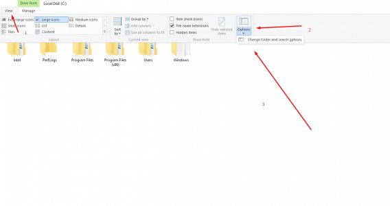 طريقة إظهار الملفات المخفية الخاصة بنظام تشغيل ويندوز 8