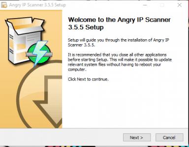 أداة Angry IP Scanner
