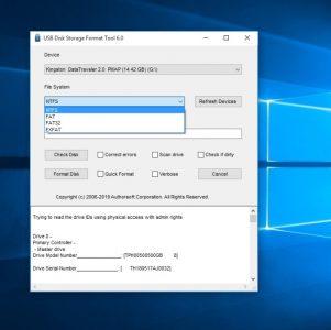 برنامج Disk Storge Format Tool