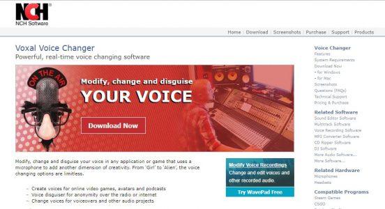 برنامج Voxal Voice Changer