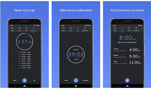 تطبيق الساعة من جوجل
