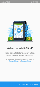 تطبيق خرائط بدون انترنت
