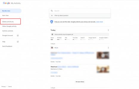 حذف نتائج البحث من جوجل