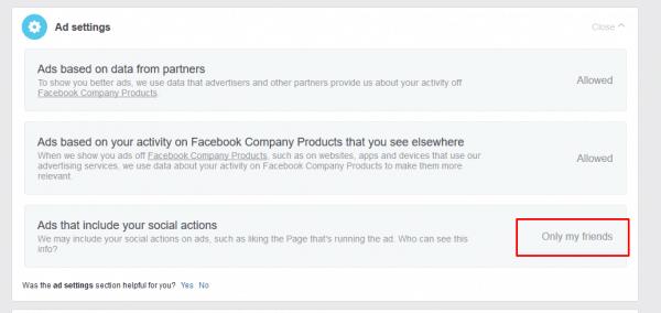 عدم اظهار اعجابات المنشورات على الفيس بوك
