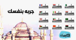مواقيت الصلاة في مختلف دول العالم
