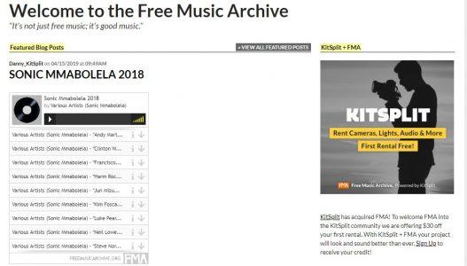 موقع Free Music Archive