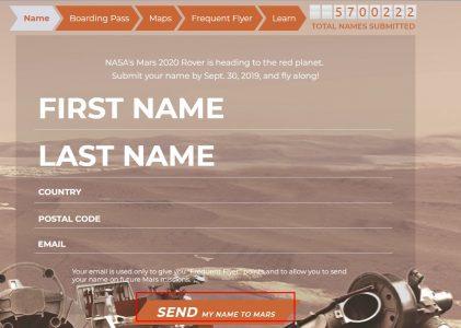 كيفية تسجيل اسمك في رحلة المريخ