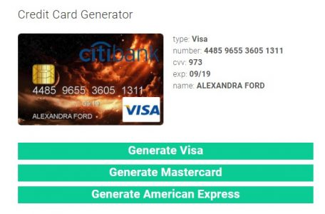 موقع Credit Card Generator