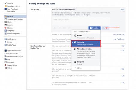 الحفاظ على خصوصية حساب فيس بوك